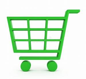 Green Shopping Cart Royalty Free Stock Photos Image