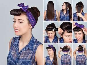 Coiffure Année 50 Pin Up : coiffure r tro revival vintage pour les f tes ~ Melissatoandfro.com Idées de Décoration