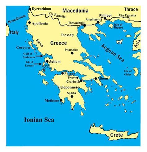 map  greece showing  ionian  aegean sea