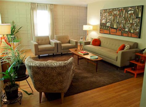 living rooms  retro style
