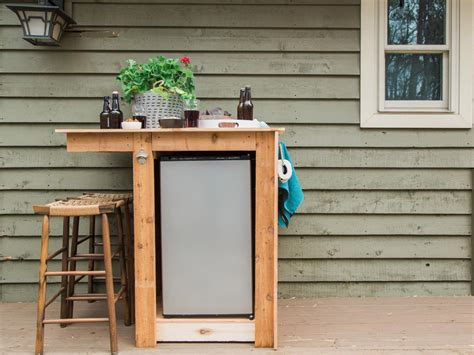 how to build an outdoor minibar hgtv