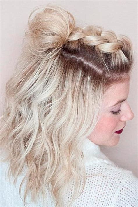Cute easy updo hairstyles for medium hair Hairstyles for