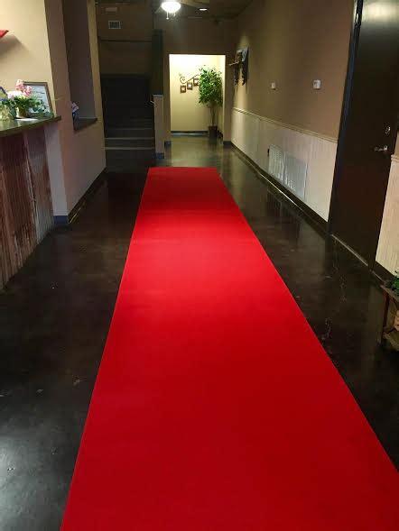 red carpet runner party  wedding rentals  denton