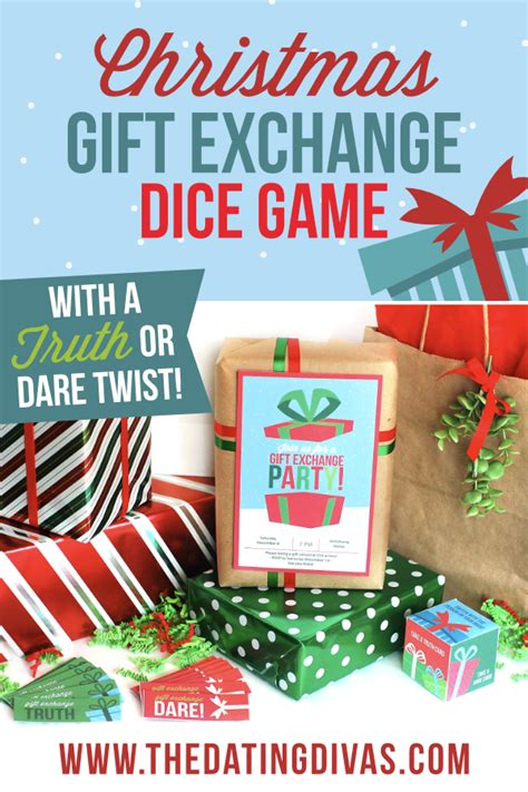 family fun dares for christmas gift exchange dice from the dating divas