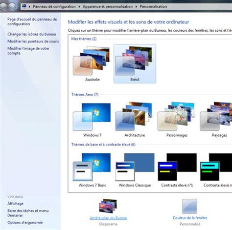 changer l image du bureau comment changer de fond d 233 cran sous windows 7 changer