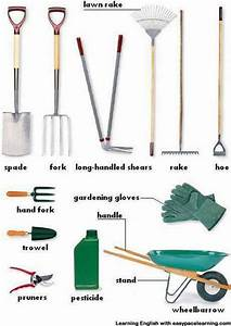 Gardening Equipment Vocabulary With Pictures Learning