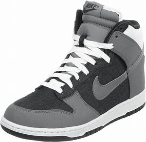 nike dunk high shoes black grey