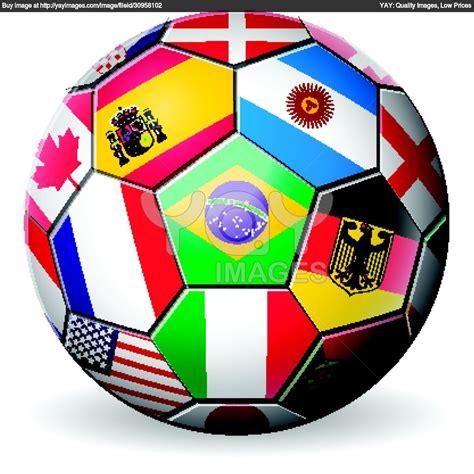 Footballsoccerwithworldteamsflagsbrazilworldcup