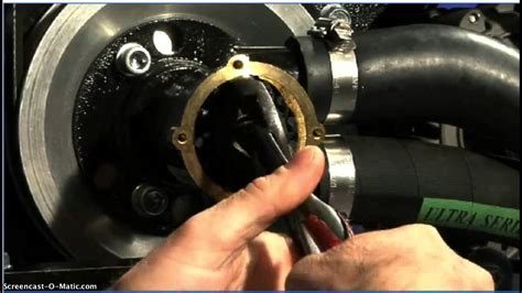 replacing  raw water pump youtube