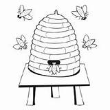 Bee Coloring Hive Honey Bees Queen Surfnetkids Buzzing Beehives Bears sketch template