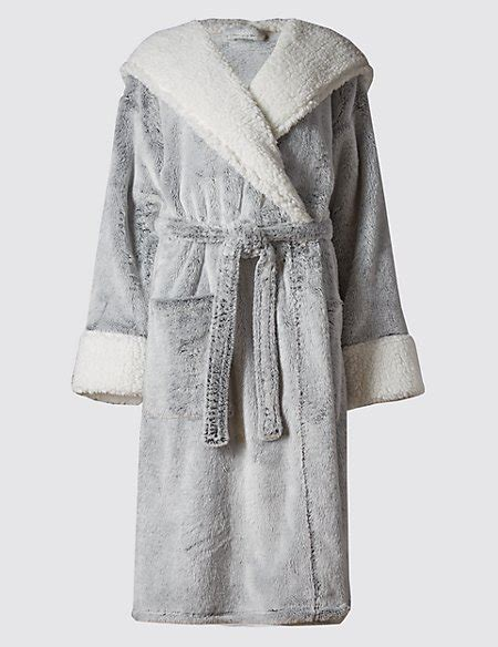 Luxury Hooded Shimmer Dressing Gown  Autograph M&s
