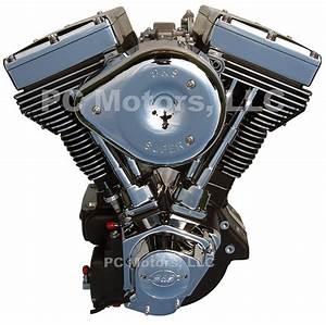 100 Ci Black  U0026 Chrome Finish Engine Motor Evo Harley S U0026s