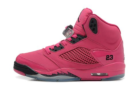 girls air jordan 5 retro gs vivid pink black for sale