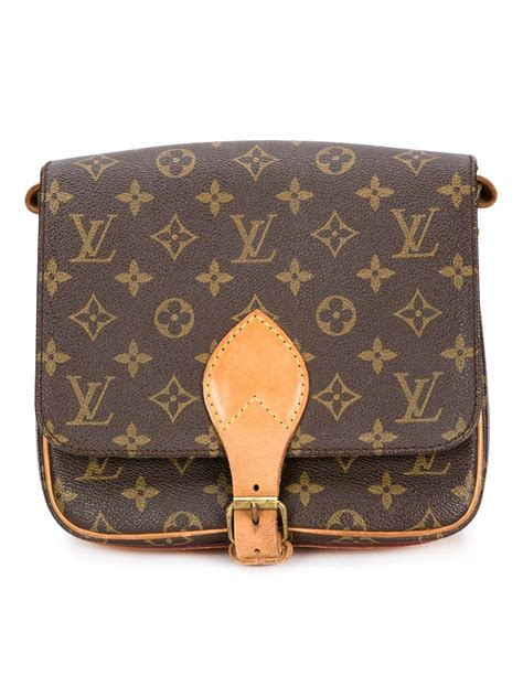 lyst louis vuitton signature crossbody bag  brown