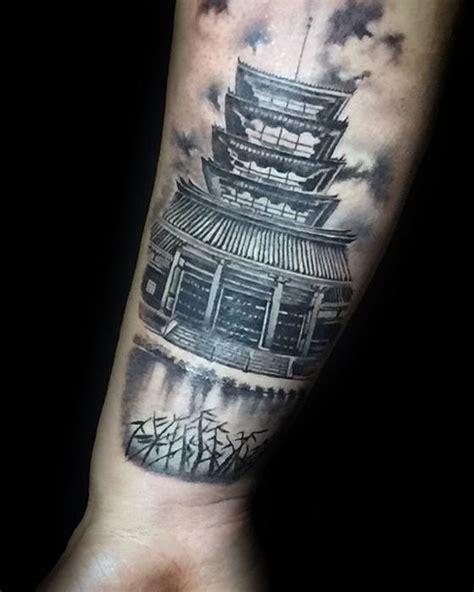 japanese temple tattoo designs  men buddhist ink ideas