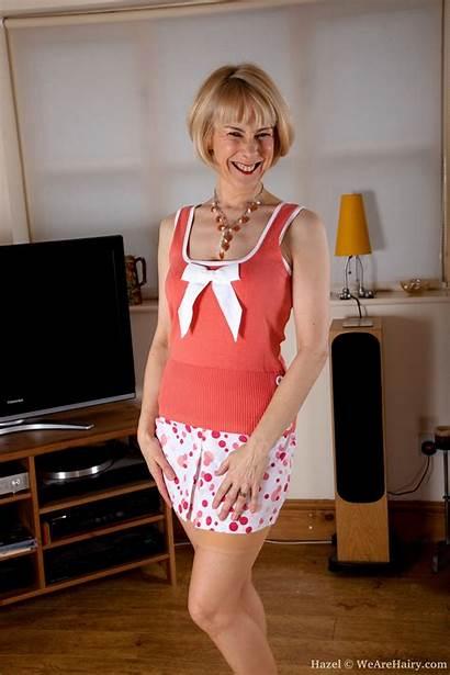 Hazel Wearehairy Suspenders Mature Lingerie Bush Thick