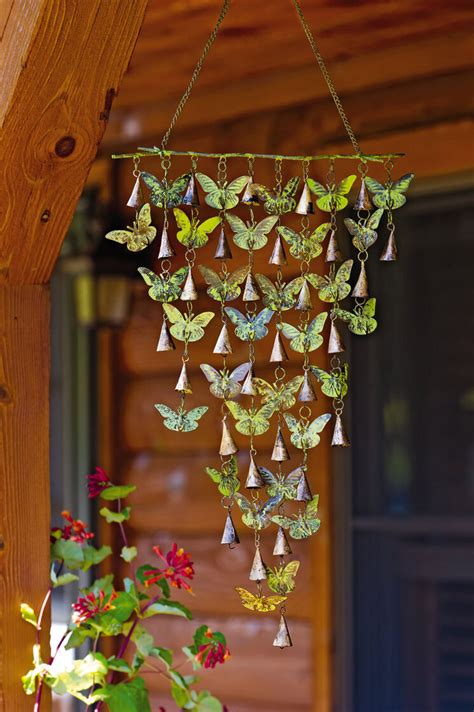 Butterfly Wind Chimes With Bells Gardeners Supply