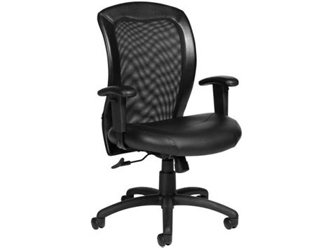 luxhide adjustable mesh back executive office chair otg