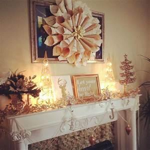 White, And, Metallic, Christmas, Mantle, Etsy, Com, Shop, Laccessoireparfait, With, Images