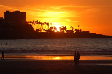 Sunset From Jolla Shores San Diego Travel Blog