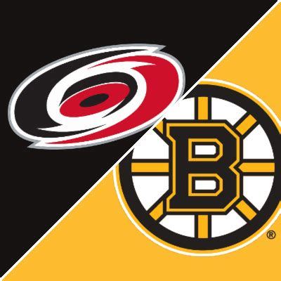 hurricanes  bruins game summary march   espn