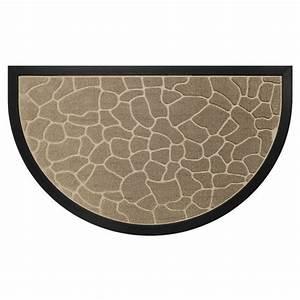 tapis d39entree demi lune galets beige tapis pour la With tapis demi lune intérieur