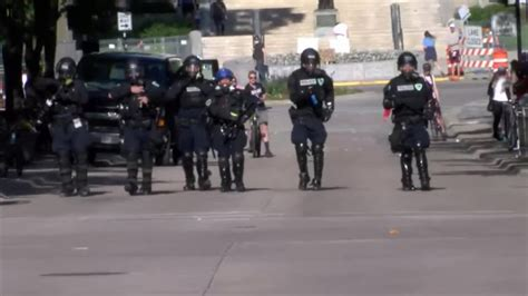 peaceful afternoon protests escalating  madison