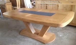 Table Bois Massif Design : table bois massif brut manger rustique accueil design et mobilier ~ Teatrodelosmanantiales.com Idées de Décoration