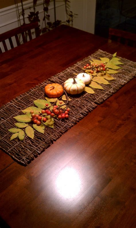 fall table runners to make fall table runner crafts pinterest