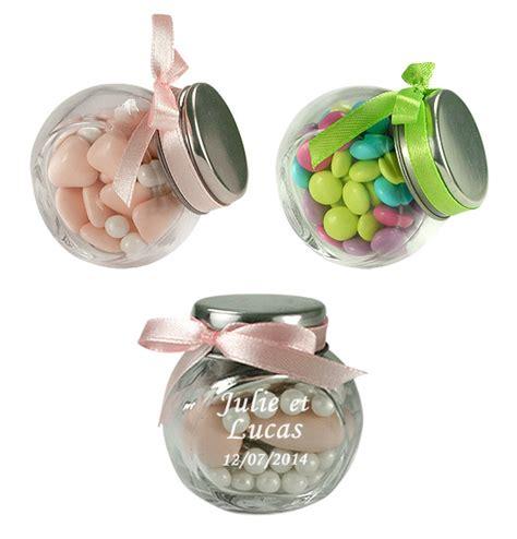 le mini pot en verre style confiseur nos contenants pour dragees ou bonbons