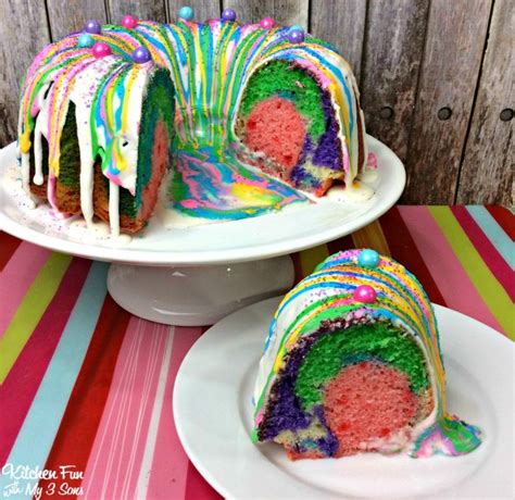 Unicorn Poop Bundt Cake - Kitchen Fun With My 3 Sons