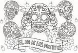 Coloring Skull Dead Printable sketch template