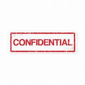 Confidential red distressed stamp label return address ...