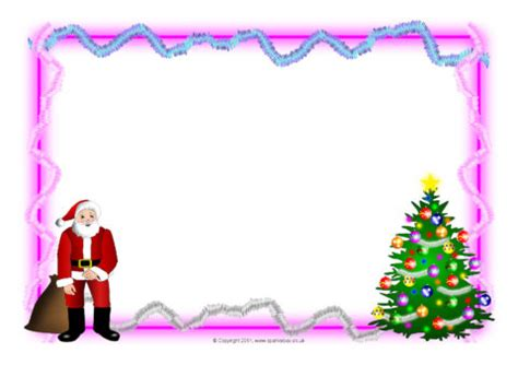 christmas  landscape page borders