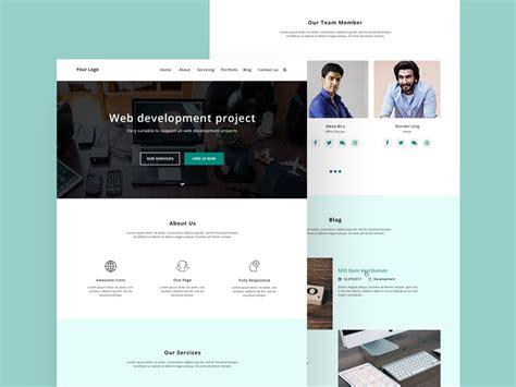 psd file web designhome page design