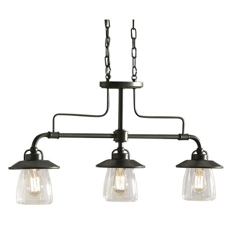 kitchen island lights shop allen roth bristow 36 in w 3 light mission bronze standard kitchen island light with