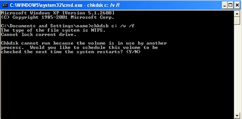 workaround quot running chkdsk in read only mode quot on windows xp walking in light with