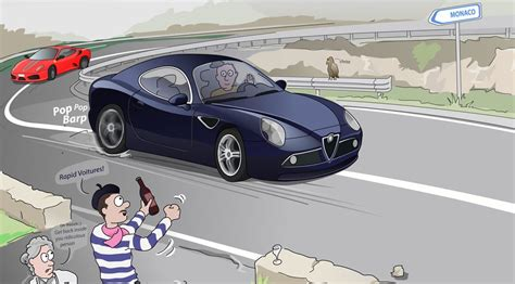 italian supercar cartoon car magazine