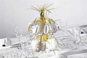 Deco Table Anniversaire 60 Ans : decoration anniversaire de mariage 50 ans ~ Dallasstarsshop.com Idées de Décoration