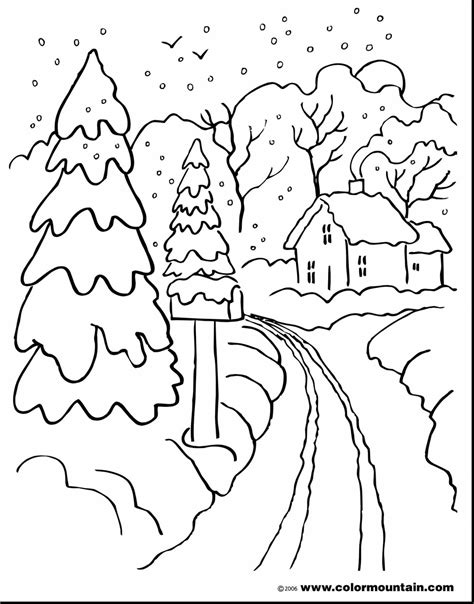 Snowy Landscape Drawing At Free For