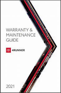 2021 Toyota 4runner Warranty And Maintenance Guide Free