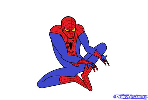 draw  amazing spiderman step  step marvel