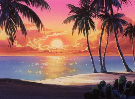 g anime summer 2018 tropical sunset vibes coub gifs with sound