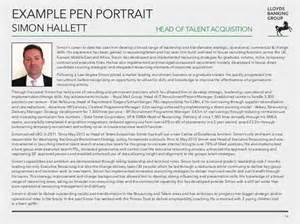 Middle Resume Template Firmday 15th Nov 2013 Simon Hallett Lloyds Banking Building