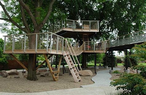 grown  play structure treehouse  kids adults