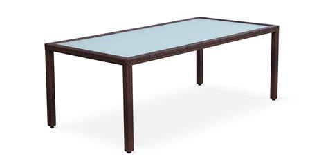 table de jardin tressee table de jardin 200cm salon en r 233 sine tress 233 e 8 personnes