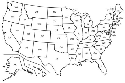 us map template blank map of the united states printable