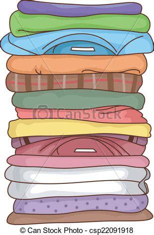 Clip Art Vecteur de plié vêtements Illustration