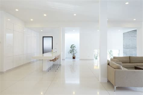 white interior design mixed  feng shui