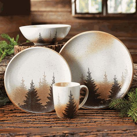 pinewood forest dinnerware